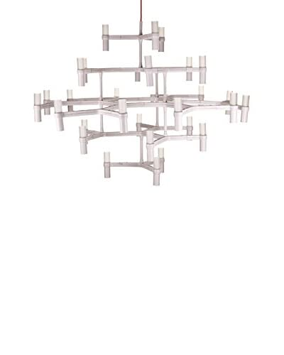 Control Brand The Bollnas 30-Light LED Chandelier, White