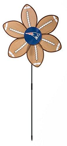 New England Patriots Footballs Garden Wind Spinner Home Decor Wheels Spinners