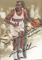 Eric Washington Denver Nuggets 1998 Skybox Autographics Autographed Hand Signed... by Hall+of+Fame+Memorabilia