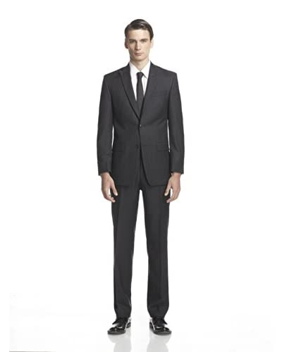 Calvin Klein Men's Mercy Striped Two Button Peak Lapel Suit