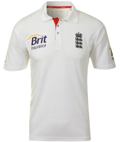 Adidas Mens England Cricket Test Short Sleeve Shirt GB Size 36/38