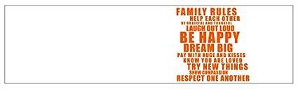 mySPOTTI  2510090 profix Family Rules, Kuchenruckwand, 220 x 60 cm