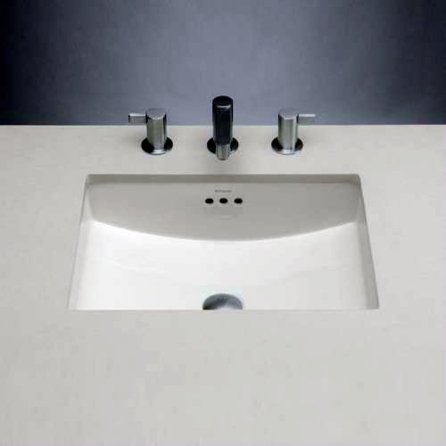 Fantastic Deal! Rectangle Ceramic Undermount Bathroom Sink with Overflow Sink Finish: White