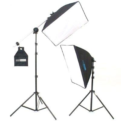 【ライトグラフィカ】撮影機材『すぐ撮る』ミディアムセット 撮影用蛍光灯照明2灯セット