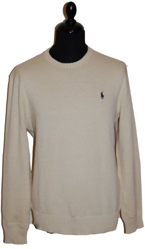 Ralph Lauren Mens Crew Neck Jumper 1818732 Cream (Large)