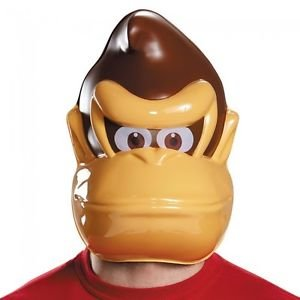 [Nintendo Super Mario Bros. Donkey Kong PVC Mask Halloween Costume Accessory] (Donkey Kong Costume For Women)