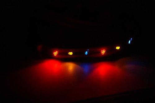 Leuchtendes Hundegeschirr LED Violett Gr. S = 27-40cm - RBrothersTechnologie