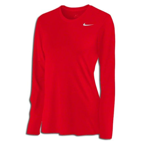 buy Nike Womens Long Sleeve Legend Shirt Red M for sale