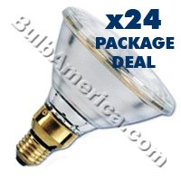 24 pcs. Brand Name 250w Par 38 Flood (FL) Bulbs Package Deal