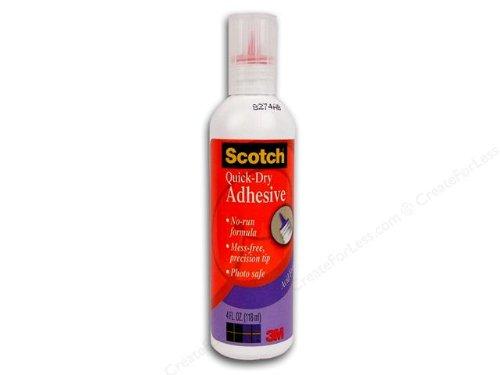 Scotch Quick-Dry Adhesive, 4 fl oz (021)
