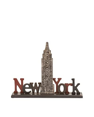 New York Wood Table Décor, Multi