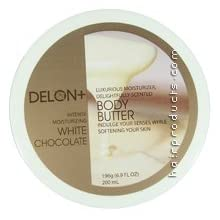 DELON Intense Moisturizing White Chocolate Body Butter 6.9oz/196g