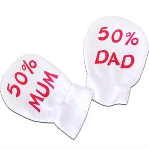 Baby Scratch Mitts - 50% Mum 50% Dad