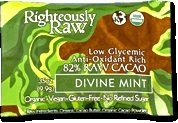 RIGHTEOUSLY RAW ORGANIC CHOCOLATE DIVINE MINT BITE SIZE, 16 – 0.35 OUNCE