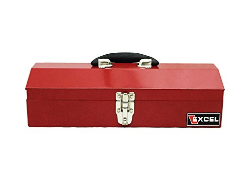 Excel TB102-Red 16-Inch Portable Steel Tool Box, Red (Steel Toolbox Hinge compare prices)