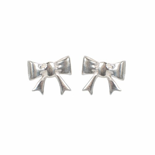 Mimi & Marge Sterling Silver Bow Post Earrings