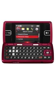 LG enV2 VX9100 No Contract 3G Camera QWERTY MP3 Cell Phone Maroon Used Verizon