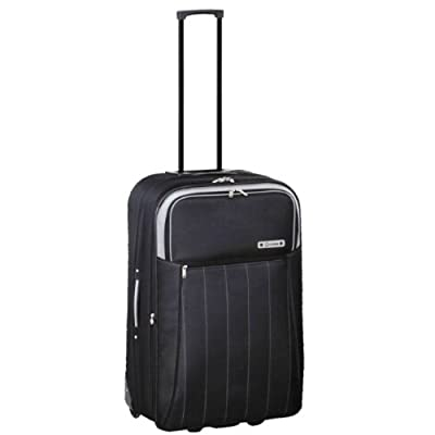 Small 20'' Super Lightweight Cabin Approved Suitcase (Black)