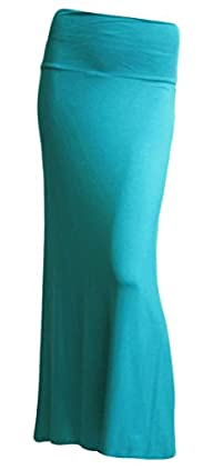 Azules Women'S Rayon Span Maxi Skirt…