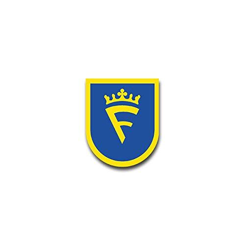 Aufkleber / Sticker - FmBtl 320 Fernmelde Bataillon Heer Burgwald-Kaserne Frankenberg Eder Bundeswehr Wappen Abzeichen Emblem passend für Opel Astra Audi A6 VW Passat (7x6cm)#A1325