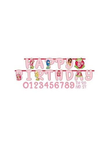 Strawberry Shortcake 7ft 5in Happy Birthday Banner