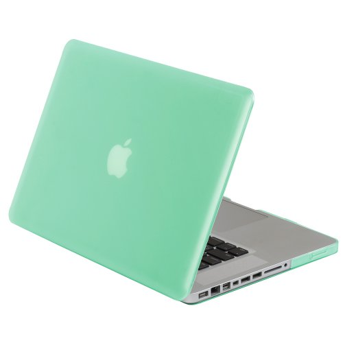 Greatshield Glazy Frosted Matte Slim Hard Shell Case Snap On Cover For Apple Macbook Pro 15 Inch (Model A1286) - Turquoise