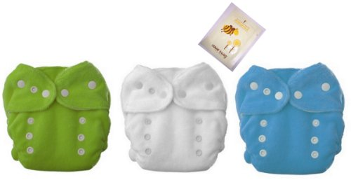 3 Duo Fab Fitted Snaps Diaper -Boys Color-Sz 1