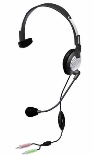 Andrea Electronic Nc-181Vm High Fidelity Monaural Pc Headset With Noise Canceling Microphone