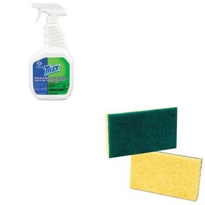 Kitcox35604Eapmp174 - Value Kit - Clorox Soap Scum Remover And Disinfectant (Cox35604Ea) And Premiere Pads Medium Duty Scrubbing Sponge (Pmp174) front-630361