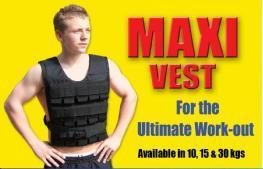 Maxivest Weighted Adjustable Vest 30kg for Strength  &  Endurance with Weights