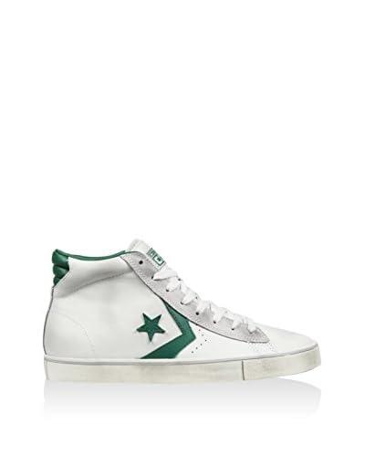 Converse Sneaker Alta Pro Leather Vulc [Bianco/Verde]