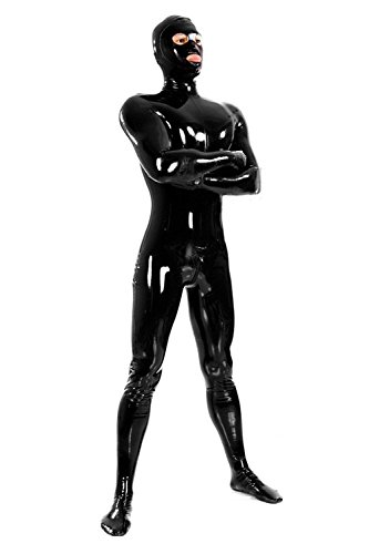 VsvoLatex-Mens-Black-Fullbody-Latex-Rubber-Zentai-Catsuit-Eyes-Mouth-Open