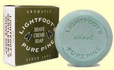 Lightfoot's Classic Pine British London Creme Shave Shaving Soap Men