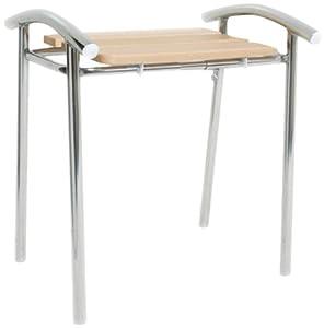 nrs healthcare tabouret de salle de bain avec assise en bois gamme spa hygi ne et. Black Bedroom Furniture Sets. Home Design Ideas