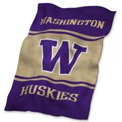 Washington Huskies NCAA UltraSoft Fleece Throw Blanket 84 x 54 by NCAA