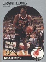 Grant Long Miami Heat 1990 Hoops Autographed Hand Signed Trading Card. by Hall+of+Fame+Memorabilia