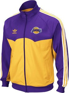 Los Angeles Lakers Adidas Originals Round Off Track Jacket