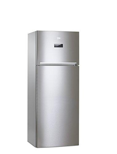 Beko RDNE455E20X Libera installazione 313L 93L A+ Acciaio inossidabile frigorifero con congelatore