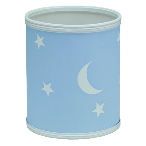 Redmon For Kids Stars And Moons Wastebasket, Blue