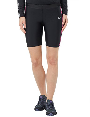 Ultrasport Women's Compression Effect and Quick-Dry-Function Running Tight Pants - Black/Neon Pink, Large