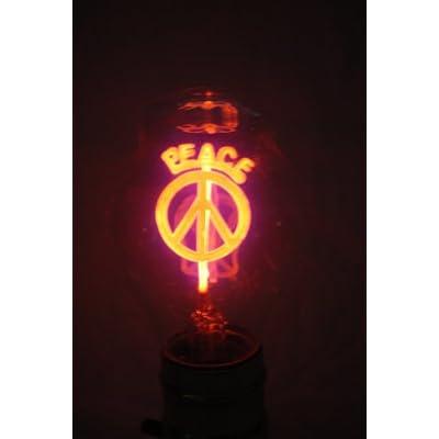 Amazon.com : 1970's Vintage Aerolux Light Bulb with Orange Peace Sign