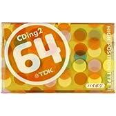 TDK オーディオカセットテープ(ハイポジ) CDing2 64分 [CD2-64U]