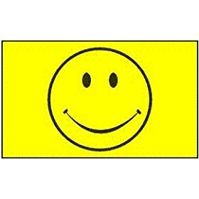 Happy Face (Smiley yellow) Flag: 3x5ft poly
