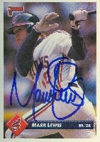 Mark Lewis Cleveland Indians 1993 Donruss Autographed Hand Signed Trading Card. by Hall+of+Fame+Memorabilia