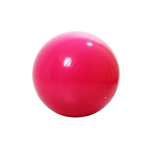 MAXSTRENGTH RED 65cm Professional Anti Burst Gym Ball Womens Yoga Ball fitness swiss exercise Home gym exercise workout.
