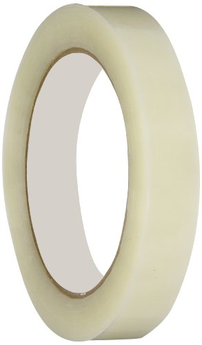 Intertape 197 Synthetic Rubber/Resin Tensilized Pallet Strapping Adhesive Tape, 0.07mm Thick x 55m Length x 18mm Width, Clear (Case of 96 Rolls)