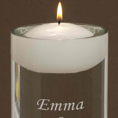 Personalized Floating Unity Candle