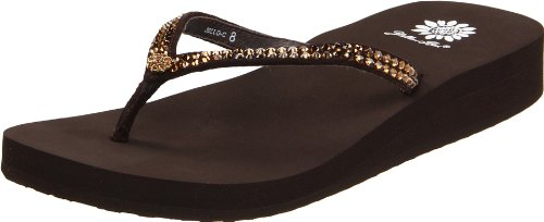 Brown Leather Flip Flops For Women front-690580
