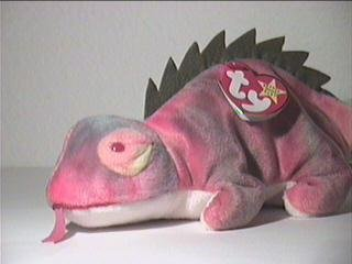 TY Beanie Baby - IGGY the Iguana (tye-dyed w/ spikes & Tongue)