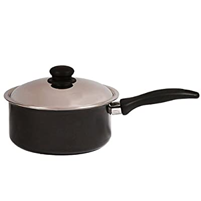 Brightflame 2 Burner Black & Aluminium Pressure Cooker 3 Ltr & Non Stick Sauce Pan